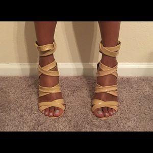 L.A.M.B. Nude/tan heels